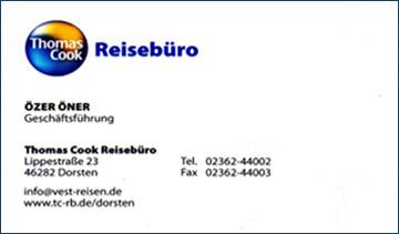 Franchisepartner Reisebüro von Thomas Cook in Dorsten